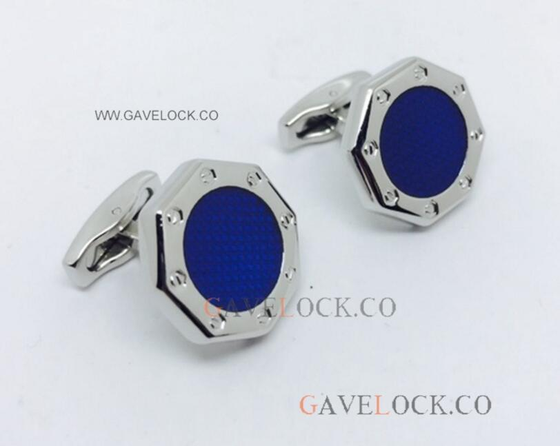 Audemars Piguet Cufflinks For Sale - Steel & Blue Audemars Cufflinks - AAA Copy